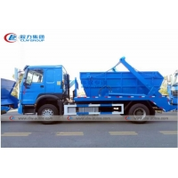 China RHD Howo 8M3 10M3 Skip Loader Container Garbage Truck wholesale