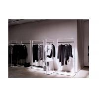 China Elegant Clothes Shop Fittings Iron Powder Coated , White Complete Shop Fittings For Retail Store wholesale