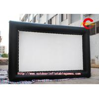 China Custom Large Outdoor Inflatable Movie Screen PVC / Oxford Cloth on sale