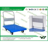 China Customized Grocery Shop hand truck steel platform trolley for moving heavy items on sale