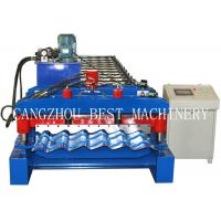 China 4m/min Glazed Roofing Tile Roll Forming Machine For Roof Building wholesale