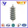 China Silicon Rubber Zinc Oxide Lightning Arrester 33KV Surge Diverter for Transformer Protection wholesale