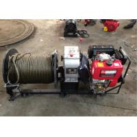 China 3 Ton Cable Drum Diesel Cable Winch Puller With 200 Meters Wire Rope wholesale