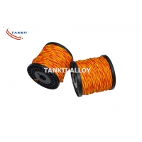 China Thermocouple K Type Extension Cable 22SWG Vitreous Silica Fiber Insulation wholesale