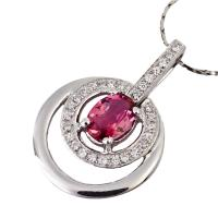 China High quality guarantee red crystal silver gemstone pendant K-BC-C883 wholesale
