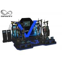 China White Blue Theme Park Two Player VR Shooting Platform wholesale
