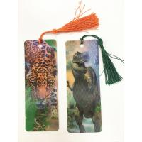 Quality Cartoon 3D Lenticular Bookmark , Custom Bookmark With Tassel Animal Style for sale