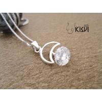 China High quality guarantee white 925 Sterling Silver Gemstone Pendant with Zircon W-VB878 wholesale