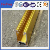 China golden color anodized aluminum extrusion track for sliding door wholesale