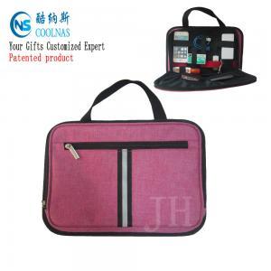 Buy cheap Electronics Travel Organizer Storage Bag , Pink Gadget Case Organizer from wholesalers