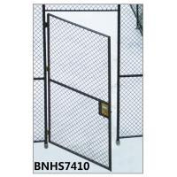 China Grey Color Wire Mesh Partition Panels Single Hinged Security Cage Door Antirust wholesale