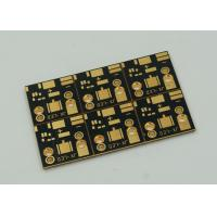 China 1 Layer Copper Clad PCB Board For High Power Led Lights Gold Finish wholesale
