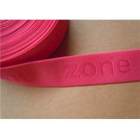China 38mm Custom Woven Ribbon Trim Underwear Elastic Band Embroidered wholesale