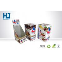 China Corrugated Paper Counter Display Boxes Spot Color Printing For Coffee wholesale