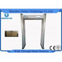 China Pass Through Portable Door Frame Metal Detector Gate 6/12/18 Zones At Airports wholesale