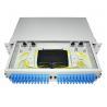 China 24 48 96 Ports Dustproof LC SC 19' Rack Mount Fiber Terminal Box Enclosure Fiber Distribution Patch Panel wholesale