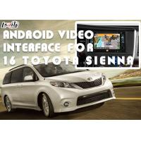 Buy cheap HD Display Car Video Interface For TOYOTA Sienna 2016 With Front View DVD TV product
