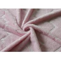 Buy cheap 5mm Bright Silk Flannel Fleece Fabric Pink Color Skin Friendly product