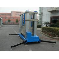 China 22 M Aluminum Alloy One Man Lift Motor Driven Blue For Window Cleaning wholesale
