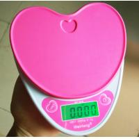 China Heart Shape Electronic Food Weighing Scales Portable For Kitchen Use wholesale