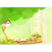 China Cartoon Picture Green Bamboo Fiber Board Healthy and Livable for Living Room wholesale