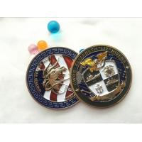 China Soft enamel Die casting Printing double side brass coin souvenir, custom military 3d challenge coin on sale