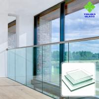 China 8mm 10mm 12mm Balstrade Glass Shower Glass , Tempered Glass For Doors And Windows wholesale