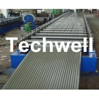 Corrugated Profile Roofing Sheet Roll Forming Machine With Hydraulic, PLC System