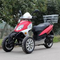 China Air Cooled 50cc Adult Tri Wheel Motorcycle Single Cylinder 4 Stroke With Rear Box wholesale