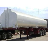 40000L Diesel Fuel Carbon Steel Tanker Trailer , Liquid Tank Semi Trailer