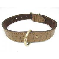 China Genuine crocodile leather dog collar L size for big dogs big discount wholesale