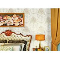 China Soundproof Modern Removable Wallpaper / Contemporary Bathroom Wallpaper With Beige Color wholesale