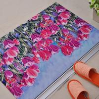China Rectangular Beautiful Rubber Floor Carpet , Dining Room Rubber Floor Mats wholesale