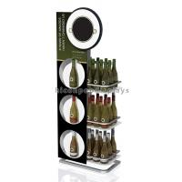 China Flooring Wine Display Stand 3 Tier Display Racks For Retail Stores on sale