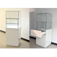 China White Glass Wooden Jewelry Display Cases With Locks 500 X 500 X 1500MM wholesale