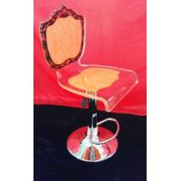 China Adjustable Orange Modern Acrylic Furniture / Acrylic Chair , Laser Engraved wholesale