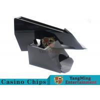 China Black Color Gambling Dedicated Casino Card Shoe , One Deck Shoe For Poker Cards wholesale