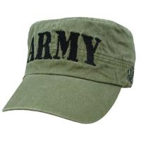 Buy cheap Army Flat Unisex Cotton Twill Crops Hat Flat Top Cap Sun Sports Baseball Hat from wholesalers
