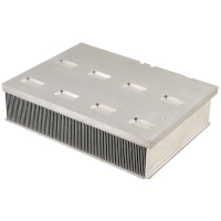 China Thermal Conductive Epoxy Bonded Fin Aluminum Heat Sinks 50-6000mm Length wholesale