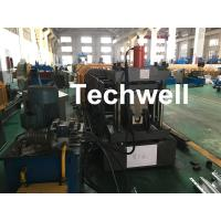 China Carbon Steel Top Hat Channel Cold Roll Forming Machine With 1.5 Inch Chain wholesale