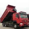 China Sinotruk Heavy Duty 6 Wheel Dump Truck Horsepower 251-350hp Red Color wholesale
