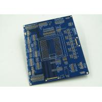 China Blue Multilayer PCB For Controller White Silkscreen Gold Surface Finish wholesale