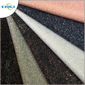 China Diamond Chunky Glitter Fabric Sheets Canvas Backing Anti Mildew Waterproof on sale