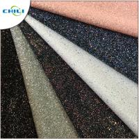 China Diamond Chunky Glitter Fabric Sheets Canvas Backing Anti Mildew Waterproof wholesale