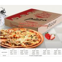 China Carton corrugated paper pizza delivery box,bio-degradable high quality chinese food products custom kraft paper pizza pa on sale
