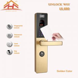 China Touch Screen RFID Card Biometric Fingerprint Door Lock With Keyless , CE / FCC wholesale