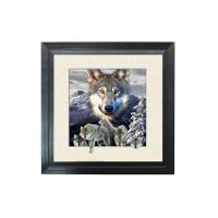 Quality 5D Effect Wolf 3D Lenticular Photo Printing For House Decoration MDF Frame for sale