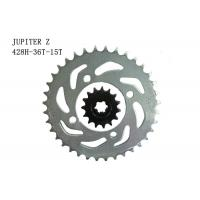 China JUPITER Z Motorcycle Sprocket Chain 36T-15T Heat Treatment Surface ISO Approval wholesale