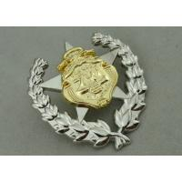 China Army Zinc Alloy Custom Medal Awards 2 Pcs Combined With Double Tones Plating wholesale