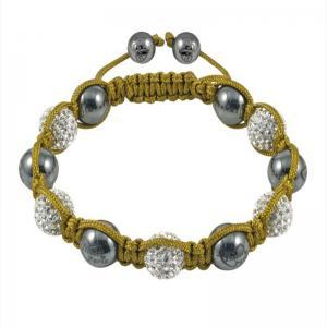China Unique design White CZ rhinestone 10mm Shamballa Crystal Bangle Bracelets wholesale